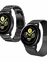 cheap -acestar compatible samsung active 2 watch bands 40mm/44mm,20mm stainless steel metal band+ mesh strap bracelet replacement for samsung galaxy watch active 2 bands women men/galaxy watch 42mm bands
