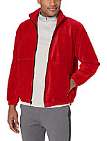 cheap -men's iceberg fleece full-zip jacket, red, 6x-large