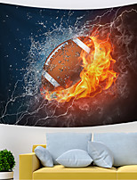 cheap -Wall Tapestry Art Decor Blanket Curtain Picnic Tablecloth Hanging Home Bedroom Living Room Dorm Decoration Polyester Novelty Modern Thunder Fire Rugby