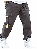cheap -houshelp men's outdoor softshell cargo pants breathable windproof tactical ski hiking pants multi pockets cargo pants gray