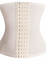 cheap -women's latex rubber breathable waist trainer corsets bustier shapewear body shaper abdominal belt(2xl,khaki)