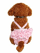 cheap -pet diapers are safe and comfortable. breathable dog sanitary trousers are easy to clean,pink,xxl