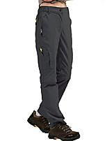 cheap -women's outdoor quick dry convertible pants water-resistant hiking fishing zip off cargo pants trousers grey
