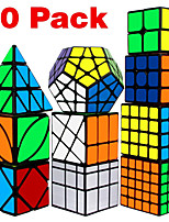 cheap -Speed Cube Set 10 pcs Magic Cube IQ Cube 2*2*2 3*3*3 4*4*4 Speedcubing Bundle Stress Reliever Puzzle Cube Smooth Office Desk Toys Brain Teaser Windmill Pyramid Mirror Kid's Adults Toy Gift