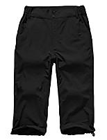 cheap -women's outdoor casual quick dry hiking saturday trail straight leg knee capri pants #6012 black-14 36