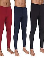 cheap -3-pack: men's thermal underwear pants set warm long johns compression underpants leggings training tights active clothing - set 4, xl