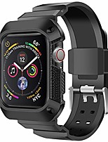 cheap -easyjoy compatible with apple watch 4 band case 40mm 44mm,rugged protective case with strap bands for iwatch series 4 (black, 40mm)