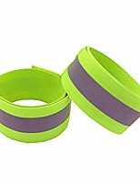 cheap -reflective armband wristbands belt strap, reflective ankle bands, high visibility and safety for jogging, walking, cycling - works as wristbands,armband,leg straps,outdoor sports 1pc (green)