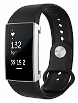 cheap -tpu case for fitbit charge 2 full coverage plating tpu watch case(black). (color : silver)