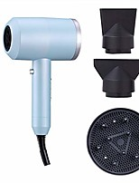 cheap -compact mini hair dryer with spread, professional portable blow dryer with comb attachment, compact small size quiet hairdryer for travel-blue
