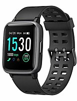 cheap -smart watch for android ios phone, fitness tracker watch health exercise smartwatch with pedometer heart rate monitor sleep tracker ip68 waterproof compatible with iphone samsung for men women (black)