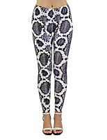 cheap -Women's Sporty Comfort Sports Gym Yoga Leggings Pants Patterned Snake Print Ankle-Length Print Dark Gray