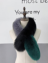 cheap -Sleeveless Scarves Faux Fur Party / Evening / Office / Career Women's Scarves With Color Block