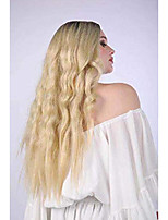cheap -silver gray ombre wigs dark roots long curly synthetic hair for women party cosplay accessories (blond)