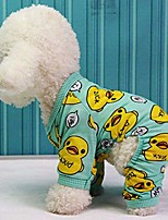 cheap -dog autumn and winter cotton warm pajamas dog yellow duck printing clothes cute puppy dog jumpsuit new fashionable puppy dog costume (xl,green)