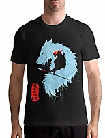 cheap -princess mononoke men crewneck ultra cotton short sleeve adult t-shirt black 3xl