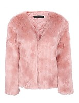 cheap -Long Sleeve Shrugs Faux Fur Party / Evening Women's Wrap With Smooth / Solid / Fur