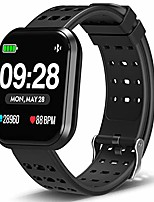 cheap -surpro fitness watch, wearable activity tracker running watch with heart rate monitor, waterproof smart wristband pedometer watch for kids woman man, black