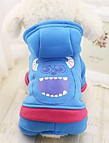 cheap -winter pet hooded coat small dog warm superhero festival decoration costumes jacket hoodie hoody,monster,m