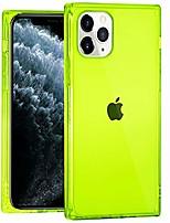 cheap -iphone 11 pro max case square soft tpu bumper slim clear transparent reinforced corners shockproof cover phone case for iphone 11 pro max-clear green (6.5 inch, 2019 released)