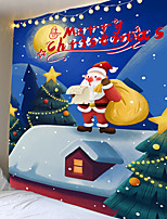 cheap -Christmas Day Party Wall Tapestry Art Decor Blanket Curtain Picnic Table Cloth Hanging Home Bedroom Living Room Dormitory Decoration Chimney Santa