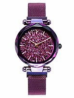 cheap -women ladies fashion dress bling stones watches with magnetic mesh band