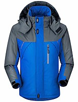 cheap -men's thicken fleece hooded coats windbreaker waterproof thermal clothing sky blue xxl