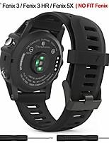 cheap -easyjoy garmin fenix 3/fenix 5x watch band,soft silicone replacement watch band compatible with garmin fenix 3/fenix 3 hr/fenix 5x/5x plus watch (black, m-l)