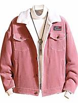 cheap -wadonerful outwear for men lapel long sleeve winter autumn corduroy jacket coat oversized pocket button cardigan tops pink