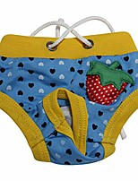 cheap -dog puppy physiological sanitary pants strawberry underwear diaper pet supplies dog diaper 5# s