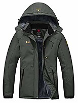 cheap -womens waterproof jacket winter warm fleece with hood windproof camping hiking coat(dark gray,s)