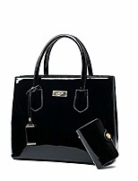 cheap -® women's handbags fashion high capacity patent leather casual cross-body top-handle bags black
