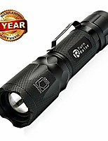 cheap -2000 lumen adjustable led flashlight torch 18650 aaa 5 modes led flash light for outdoor sports camping and more - aluminum (long shot search light)
