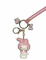 cheap -cute and fashion keychians, cartoon key ring for purse &pendant little rabbit pink