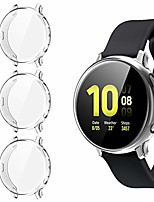 cheap -[3 pack] screen protector case for samsung galaxy active 2 44mm, all-around tpu anti-scratch flexible case soft protective bumper cover for samsung galaxy watch active 2. clear (44mm)