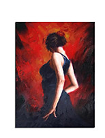 cheap -Ballet Dancer Picture Hand Painted Abstract Palette Knife Oil Paintings On Canvas Wall Art For Living Room Home Decor Rolled Canvas No Frame Unstretched