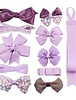 cheap -boutique baby girls toddler hair bow clips barrettes with hair bows holder (purple)