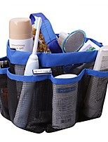 cheap -hanging toiletry bag with 8 compartment mesh shower caddy,quick dry shower tote bag organizer for cosmetics, swimming supplies,bathroom shampoo,soap,body wash,towels,shaving tools and other toiletries
