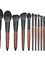 cheap -cosmetics makeup 12pcs brush set premium synthetic kabuki for liquid cream foundation concealer powder bronzer blending buffing contouring highlighter face eye make up brushes kit (a)