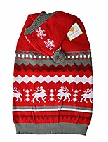 cheap -cottontail christmas red holiday hoodie dog sweater with leash hole machine washable (x-large)