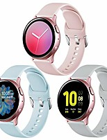 cheap -bands compatible with samsung galaxy watch 42mm/samsung galaxy watch active/active2 40mm/44mm, replacement strap compatible with samsung gear sport, pink, gray, b-blue, small