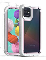 cheap -samsung a51 phone case with soft screen protector [2 pack] full-body shockproof protective soft dual layer bumper case cover for samsung galaxy a51 (white)