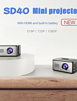 cheap -SD40 Mini Portable Entertainment Projector LED Mini Projector Multimedia HD 1080P Video Movie Home Theater Cinema Projector