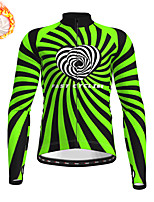 cheap -21Grams Men's Long Sleeve Cycling Jersey Winter Fleece Polyester Yellow Blue Green Bike Jersey Top Mountain Bike MTB Road Bike Cycling Fleece Lining Warm Quick Dry Sports Clothing Apparel / Stretchy