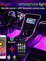cheap -ambient light app control + rgb remote controller car atmosphere light lamp soft diy refit 5m optic fiber band 64 colors interior lighting decorative light 1w dc 12v