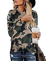 cheap -women's casual tops camo shirts fall long sleeve t shirt cute round neck sweatshirts (camoflage, xl)