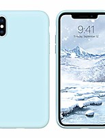 cheap -iphone xs case iphone x case liquid silicone, soft gel rubber slim lightweight microfiber lining cushion texture cover shockproof protective anti-scratch phone cases for iphone xs/x fog blue