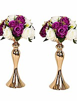 """cheap -2pcs gold metal candle holders 50cm/20'' stand flowers vase candlestick as road lead candelabra centre pieces wedding decoration (gold, 12.5"""")"""