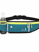 cheap -running belt, runners belt with water bottle for women men,waist pack belt pouch for phone,water resistant pack for hiking fitness travel-light weight, large capacity, not bounce(blue)