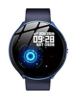 cheap -V12 Tempered Glass Heart Rate Blood Oxygen Breathing Light Music Control Fitness Map Leather Smart Watch